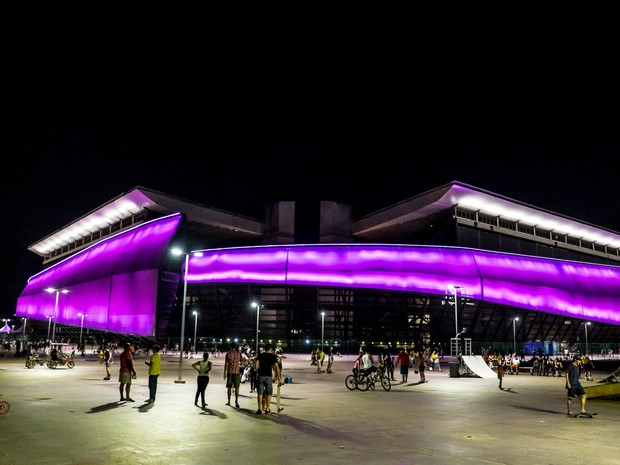 Arena Pantanal, em Cuiabá, é usada para eventos culturais e recebe jogos (Foto: José Medeiros/GCOM MT)
