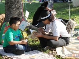 Piquenique literário do programa Ler é uma Viagem (Foto: Marília Monteiro)