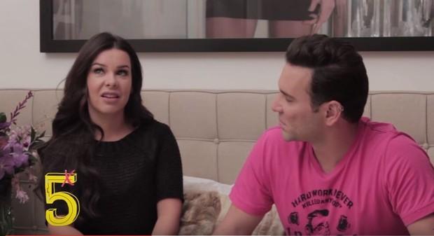 Fernanda Souza e Mathes Mazzafera (Foto: Reprodução/Youtube)