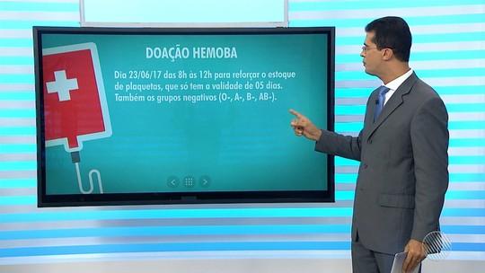 Hemoba funciona com horários especiais na sexta-feira