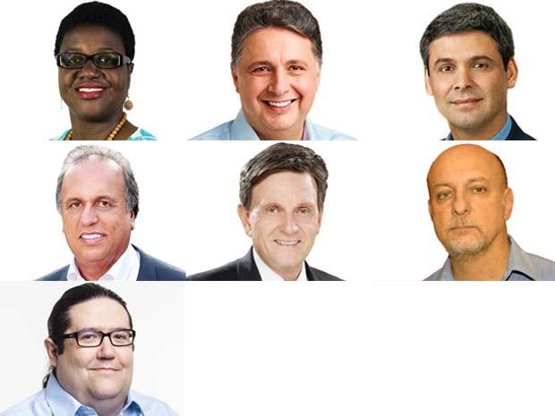 Candidatos ao governo do RJ (Foto: Arte/G1)