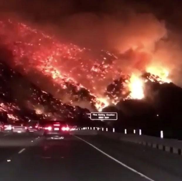 Paris Hilton mostrou incêndio na Califórnia (Foto: Reprodução Instagram)