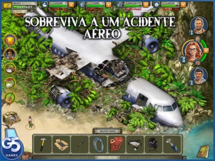 Survivor é um jogo em português com enredo muito parecido com o seriado Lost (Foto: Divulgação)