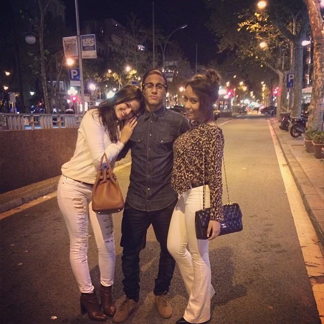 Bruna Marquezine, Neymar e Rafaella Santos em 2013 (Foto: Reprodução/Instagram)
