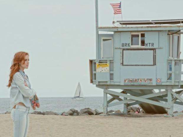 Pela primeira vez na Califórnia, Sophia gravou o clipe em Venice Beach (Foto: Bruno Fioravanti)