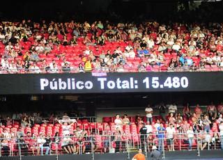 Público Linense x São Paulo (Foto: Marcos Ribolli)