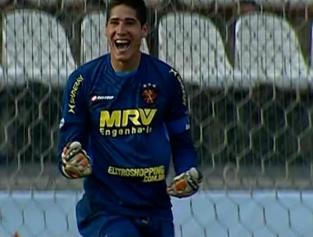 Flávio, goleiro, Sport (Foto: Reprodução SporTV)
