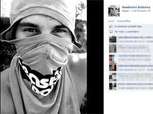 """Humberto se apresenta no Facebook como """"Humberto Baderna"""" (Foto: Reprodução/Facebook)"""