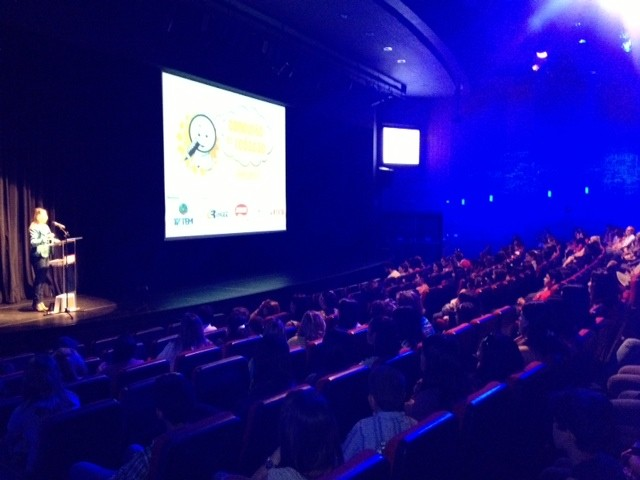 Cerimônia de premiação foi realizada no Teatro do Sesi de Itapetininga (SP). (Foto: Deise Voigt / G1)