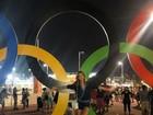 Marina Ruy Barbosa posa de look curtinho no Parque Olímpico, no Rio