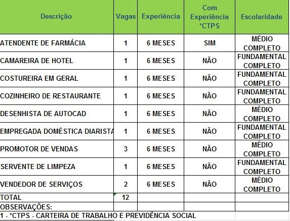 Sine oferece 12 vagas para Rio Branco nesta quinta-feira (31) (Foto: Divulgação/Sine)
