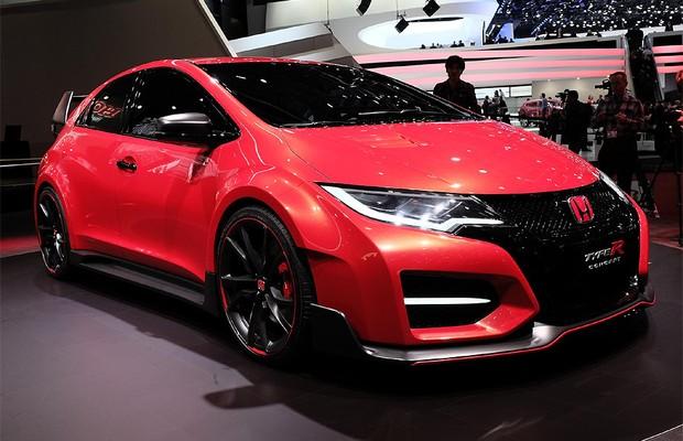 Honda Civic Type R Concept no Salão de Genebra (Foto: Newspress)