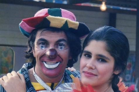 A atriz com Evandro Mesquita em 'Vamp', de 1991 (Foto: Arquivo pessoal)