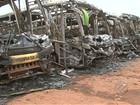 Polícia investiga causas de incêndio em sete ônibus de empresa, no PA
