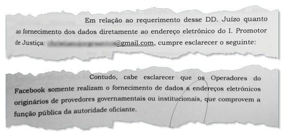 Juiz deu autorização para que promotor recebesse o conteúdo desejado em seu e-mail pessoal. Facebook se recusou num primeiro momento (Foto: Reprodução)