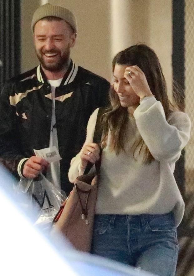 Justin Timberlake e Jessica Biel (Foto: BackGrid)