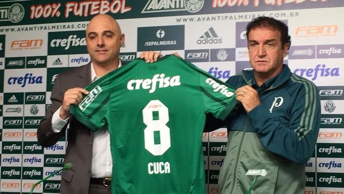 Apresentação Cuca Palmeiras (Foto: Felipe Zito)