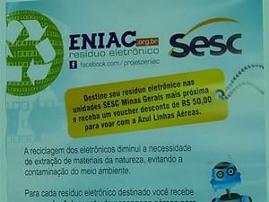 Resíduos Uberlândia Uberaba Araxá Sesc (Foto: Reprodução / TV Integração)