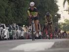 'Puxou o guidão', diz triatleta roubado a mão armada em prova internacional