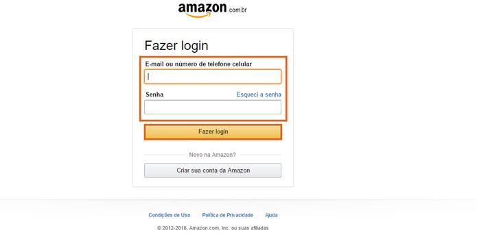 Adicione sua conta da Amazon (Foto: Reprodução/Barbara Mannara)