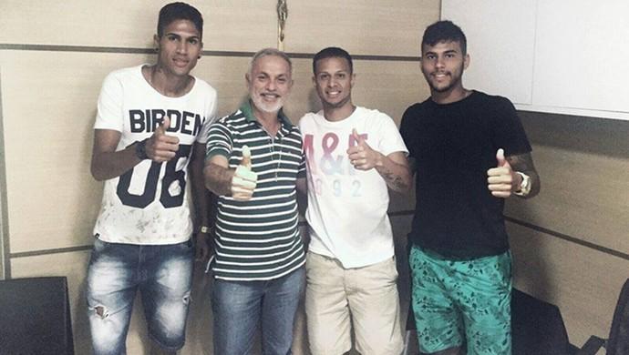Apresentação jogadores do Vitória-PE vindos do Santos (Foto: Divulgação / Vitória-PE)
