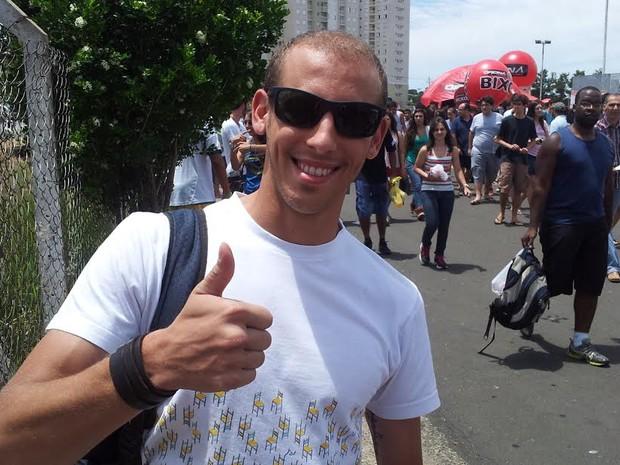 Vinicius Salomé é Guarda Municipal há três anos e presta Educação Física (Foto: Marcello Carvalho)