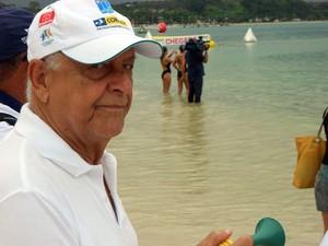 Coaracy Nunes durante prova do Brasileiro de Maratonas Aquáticas em Inema (Foto: Raphael Carneiro)