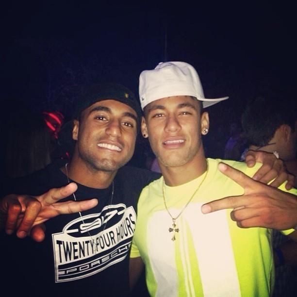 Neymar e Lucas  (Foto: Reprodução  / Instagram)
