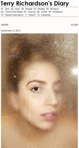 Lady Gaga no banho em foto de Terry Richardson (Foto: Reprodução/Terrysdiary.com)