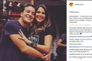 Rafael Cortez posa para fotos com namorada (Foto: Reprodução/Instagram)