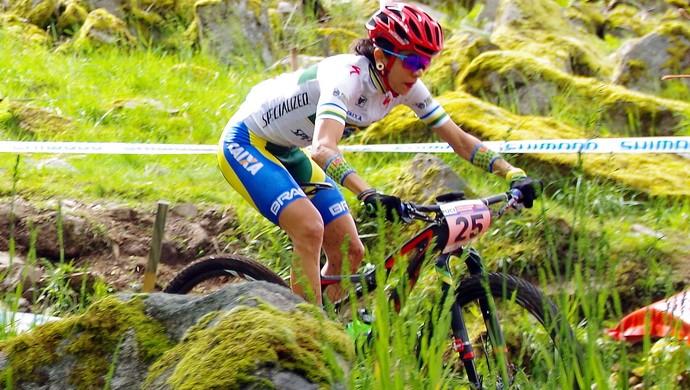 Raiza Goulão, ciclista goiana do mountain bike (Foto: Anderson Guedes)