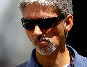 Damon Hill nos boxes (Foto: Getty Images)