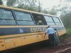 Ônibus escolar derrapa e pais de Araras cobram reparos em estrada