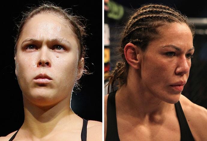 MOntagem UFC Ronda Rousey e Cris Cyborg (Foto: Agência Getty Images)