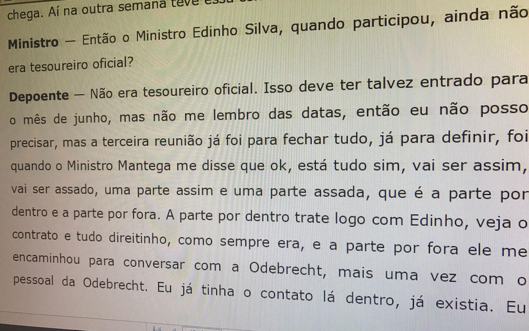 Depoimento de Mônica Moura ao TSE