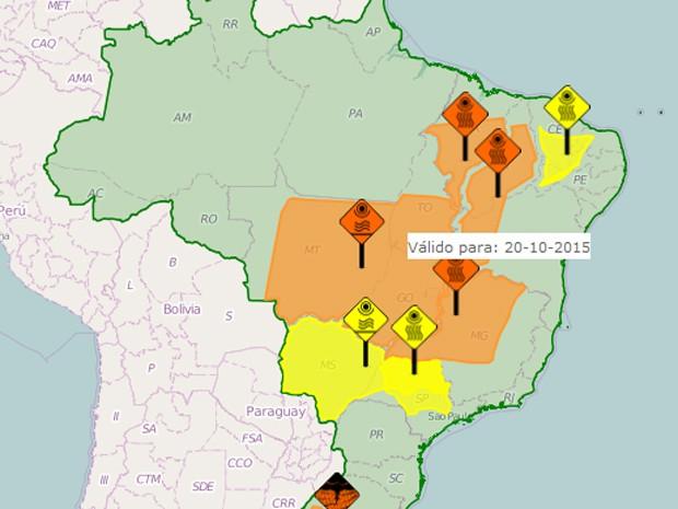 Inmet alerta Maranhão e outros sete estados sobre baixa umidade do ar (Foto: Inmet)