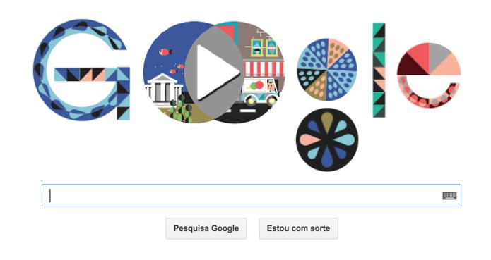 Tela inicial do Doodle do Google de John Venn (Foto: Reprodução/Google)
