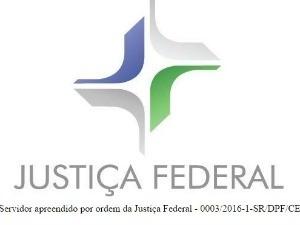 Conteúdo de site que estimula violência foi substituído por mensagem da Justiça Federal (Foto: Reprodução)
