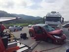 Acidente fatal interrompe a BR-470 (PRF/Divulgação)