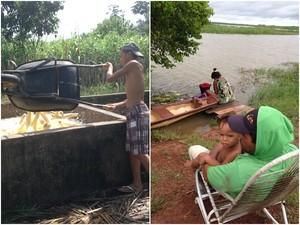 Rotina das comunidades é ligada ao rio, na Baixada Maranhense (Foto: Clarissa Carramilo/G1)