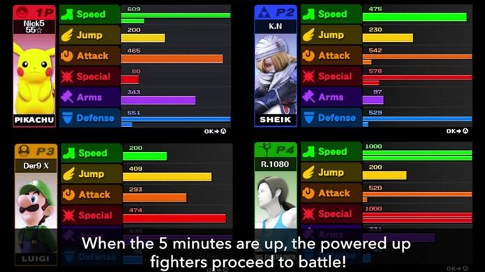 Aumente seus atributos lutando com inimigos no labirinto e vença seus oponentes no modo Smash Run (Foto: Nintendo News)
