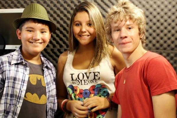Caio Pereira, Vic Brow e Jorge Junior  (Foto: Rose Pereira)