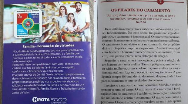 Panfleto divulgado pelo Hirota Food Supermercados (Foto: Reprodução)