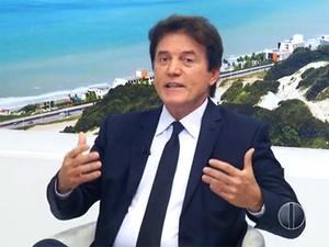Robinson Faria, governador do RN, durante entrevista ao Bom Dia RN  (Foto: Reprodução/Inter TV Cabugi)