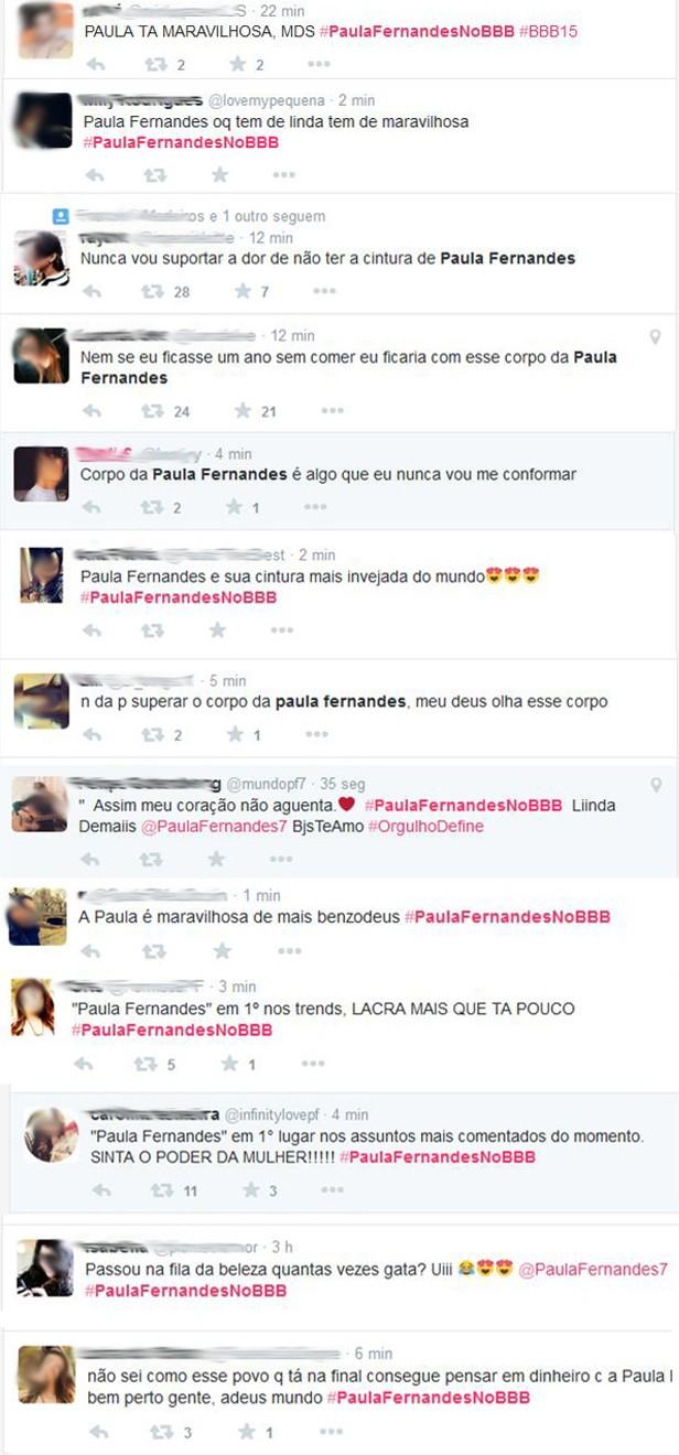 Comentários Paula Fernandes (Foto: Twitter / Reprodução)