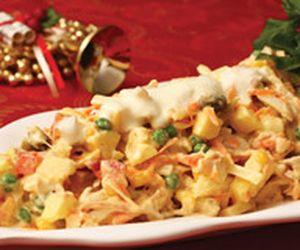 Salpicão de frango tradicional com maionese