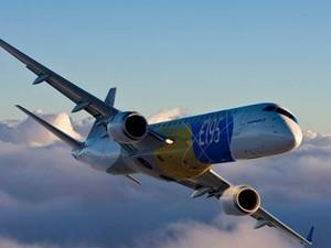 Avião entregue à companhia chinesa é o E195 (Foto: Digulgação/Embraer)