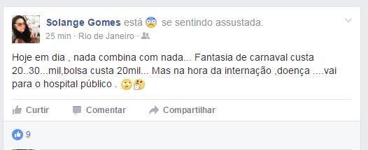 Solange Gomes (Foto: Reprodução/Facebook)