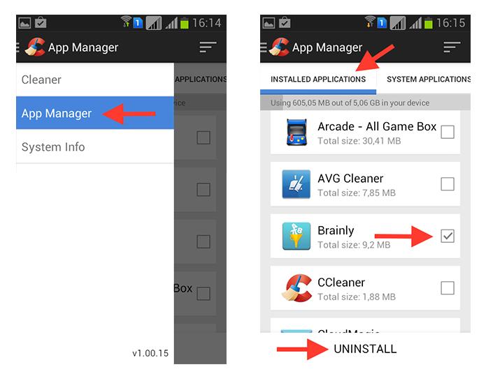 Apagando aplicativos através do CCleaner no Android (Foto: Reprodução/Marvin Costa)