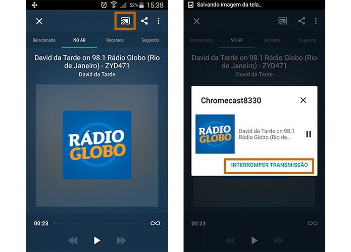 O usuário pode interromper a transmissão quando precisar (Foto: Reprodução/Barbara Mannara)